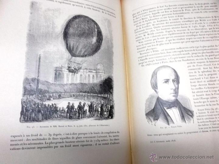 Libros antiguos: LA NAVIGATION AERIENNE por Lecornu ca. 1906, 363 grabados de globos aerostáticos, dirigibles, etc. - Foto 5 - 42651042