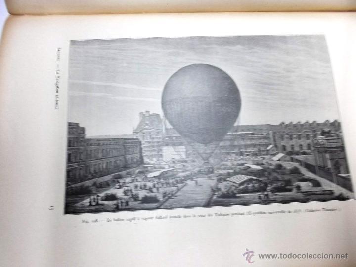 Libros antiguos: LA NAVIGATION AERIENNE por Lecornu ca. 1906, 363 grabados de globos aerostáticos, dirigibles, etc. - Foto 6 - 42651042