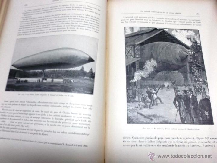Libros antiguos: LA NAVIGATION AERIENNE por Lecornu ca. 1906, 363 grabados de globos aerostáticos, dirigibles, etc. - Foto 7 - 42651042