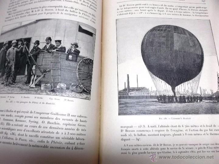 Libros antiguos: LA NAVIGATION AERIENNE por Lecornu ca. 1906, 363 grabados de globos aerostáticos, dirigibles, etc. - Foto 8 - 42651042