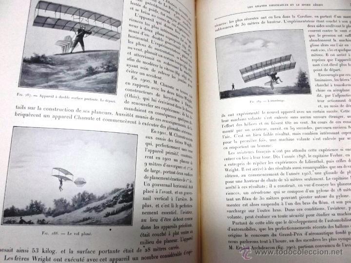 Libros antiguos: LA NAVIGATION AERIENNE por Lecornu ca. 1906, 363 grabados de globos aerostáticos, dirigibles, etc. - Foto 9 - 42651042
