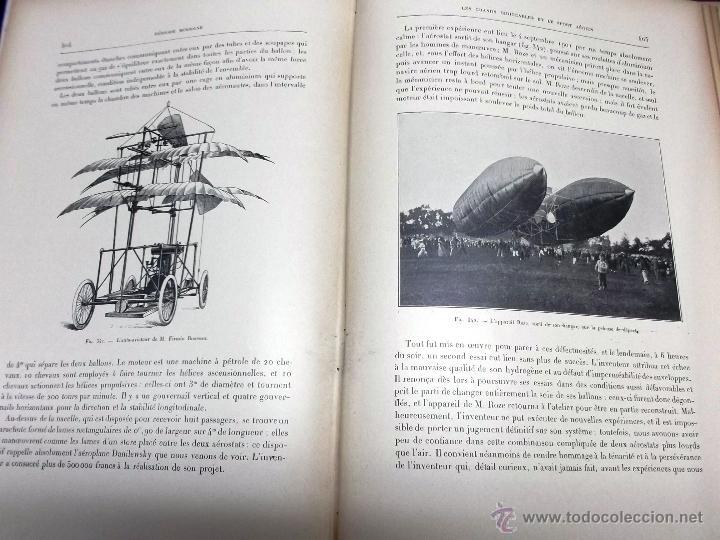 Libros antiguos: LA NAVIGATION AERIENNE por Lecornu ca. 1906, 363 grabados de globos aerostáticos, dirigibles, etc. - Foto 10 - 42651042