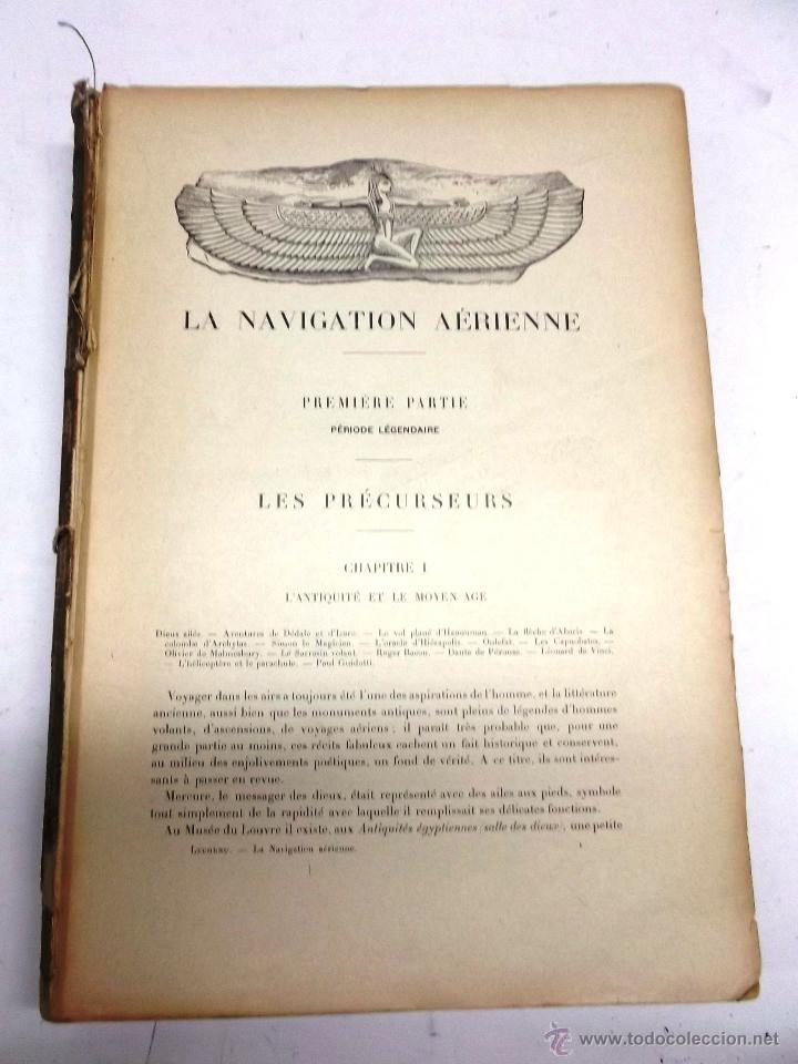 Libros antiguos: LA NAVIGATION AERIENNE por Lecornu ca. 1906, 363 grabados de globos aerostáticos, dirigibles, etc. - Foto 11 - 42651042