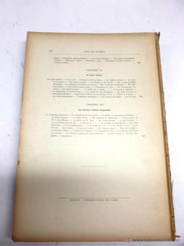 Libros antiguos: LA NAVIGATION AERIENNE por Lecornu ca. 1906, 363 grabados de globos aerostáticos, dirigibles, etc. - Foto 12 - 42651042