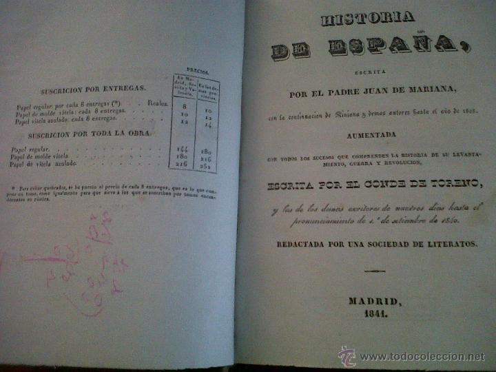 HISTORIA DE ESPAÑA ESCRITA POR EL PADRE JUAN DE MARIANA MADRID 1841-TOMO 15 Y 16 (Libros Antiguos, Raros y Curiosos - Historia - Otros)