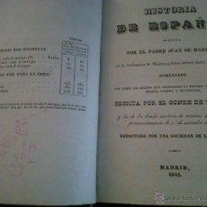 Libros antiguos: HISTORIA DE ESPAÑA ESCRITA POR EL PADRE JUAN DE MARIANA MADRID 1841-TOMO 15 Y 16. Lote 42665566