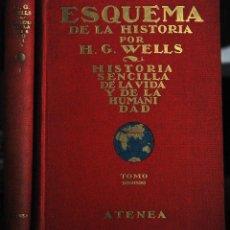 Libros antiguos: H. G. WELLS. ESQUEMA DE LA HISTORIA. Lote 42755157