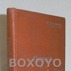 Libros antiguos: ALTAMIRA, RAFAEL. HISTORIA DE LA CIVILIZACIÓN ESPAÑOLA. MANUALES SOLER Nº 29. Lote 42714017