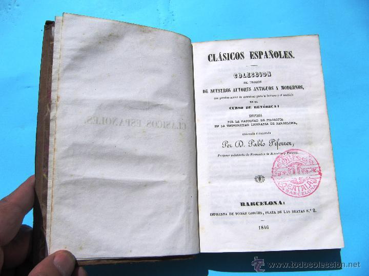 CLÁSICOS ESPAÑOLES. COLECCIÓN DE NUESTROS AUTORES ANTIGUOS Y MODERNOS. POR PABLO PIFERRER, 1846. (Libros Antiguos, Raros y Curiosos - Literatura - Otros)