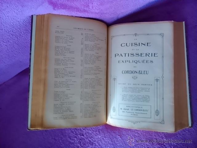 Libros antiguos: LA CUISINE ET LA PATISSERIE EXPLIQUEES DU CORDON-BLEU, F. BARTHELEMY 1894 - Foto 3 - 42827549