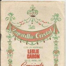 Libros antiguos: * LP32 - LA ZAPATILLA DE CRISTAL - CON LESLIE CARON EN EL PAPEL DE CENICIENTA. Lote 42834235