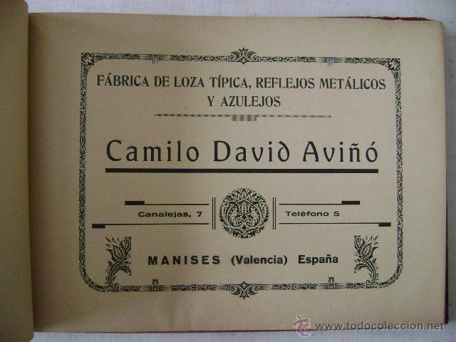 Libros antiguos: FABRICA DE LOZA TIPICA,REFLEJOS METALICOS.CAMILO DAVID AVIÑO.658 - Foto 2 - 42967636