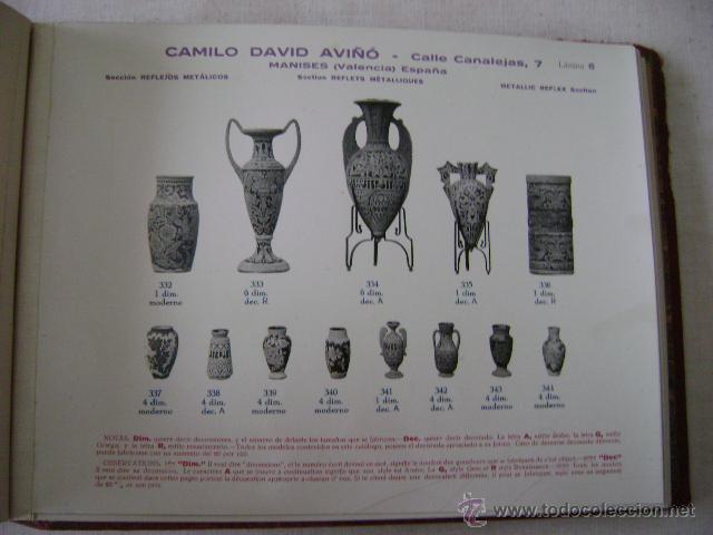 Libros antiguos: FABRICA DE LOZA TIPICA,REFLEJOS METALICOS.CAMILO DAVID AVIÑO.658 - Foto 6 - 42967636