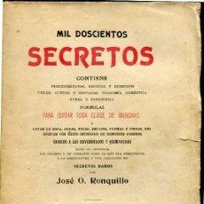 Libros antiguos: MIL DOSCIENTOS SECRETOS. Lote 43113756