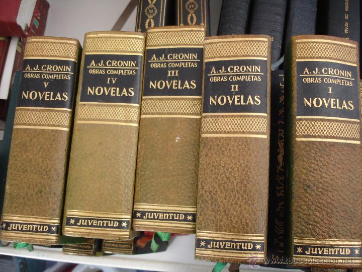 LIBROS. A.J.CRONIN, OBRAS COMPLETAS 5 TOMOS.TAPAS DURAS EN PIEL. (Libros antiguos (hasta 1936), raros y curiosos - Literatura - Narrativa - Otros)