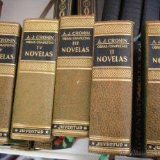 Libros antiguos: LIBROS. A.J.CRONIN, OBRAS COMPLETAS 5 TOMOS.TAPAS DURAS EN PIEL.. Lote 43169395