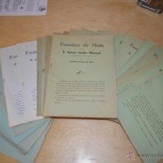 Libros antiguos: LIBROS DE APELLIDOS DE LA CIUDAD DE MULA-ANTONIO SANCHEZ MAURANDI-SERIE 1 COMPLETA. Lote 109494924