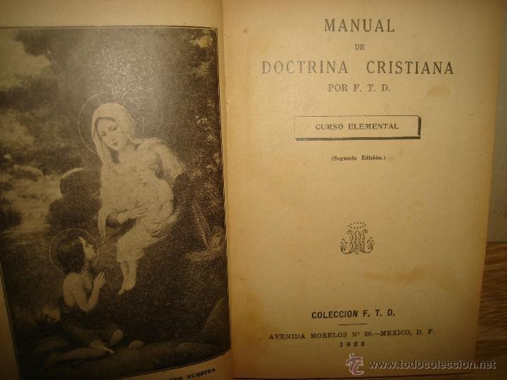 Libros antiguos: Doctrina Cristiana - F. T. D. - 1923 - Foto 3 - 43236602