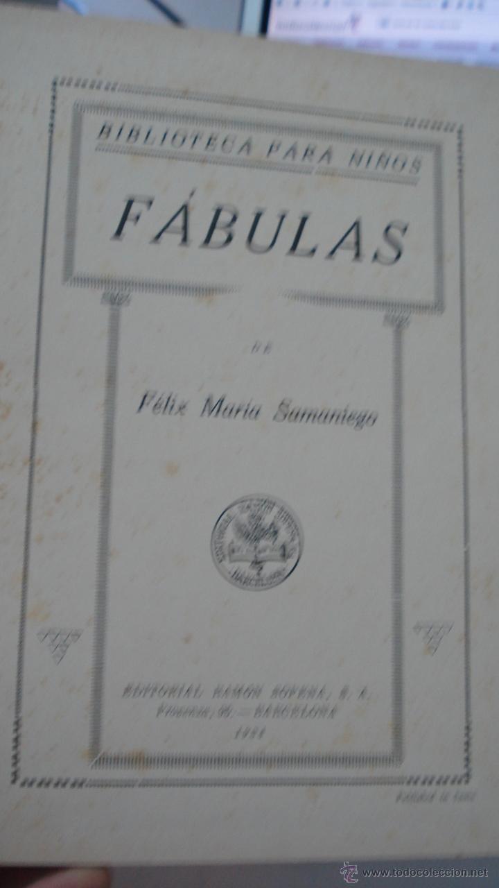 Libros antiguos: fabulas de samaniego, 1934 de Felix Maria Samaniego - Foto 2 - 43286768