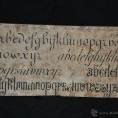 Libros antiguos: ANTIGUO ALFABETO PARA BORDADORAS. Lote 43296613