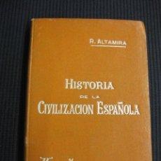 Libros antiguos: HISTORIA DE LA CIVILIZACION ESPAÑOLA. R. ALTAMIRA. MANUALES SOLER.. Lote 43341406