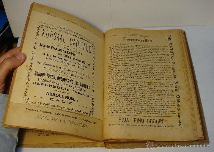 Libros antiguos: Anuario de Cádiz y su Provincia. Guía Oficial. 1923. - Foto 4 - 43365918