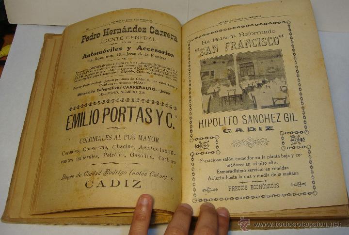 Libros antiguos: Anuario de Cádiz y su Provincia. Guía Oficial. 1923. - Foto 5 - 43365918