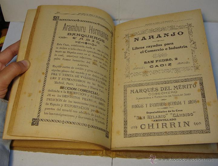 Libros antiguos: Anuario de Cádiz y su Provincia. Guía Oficial. 1923. - Foto 6 - 43365918