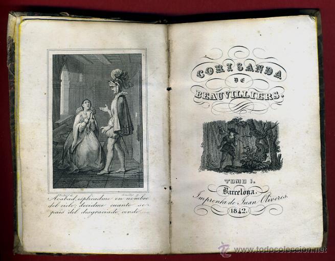 LIBRO CORISANDA DE BEAUVILLIERS 1892 , 2 TOMOS , GRABADOS , ORIGINAL (Libros antiguos (hasta 1936), raros y curiosos - Literatura - Narrativa - Otros)