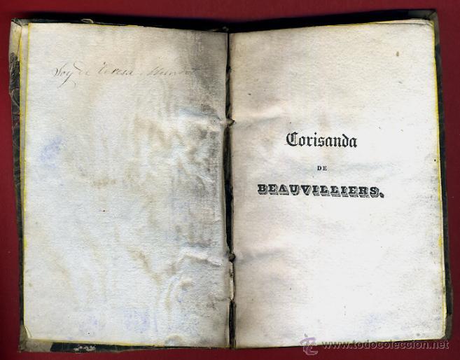 Libros antiguos: LIBRO CORISANDA DE BEAUVILLIERS 1892 , 2 TOMOS , GRABADOS , ORIGINAL - Foto 3 - 43402688