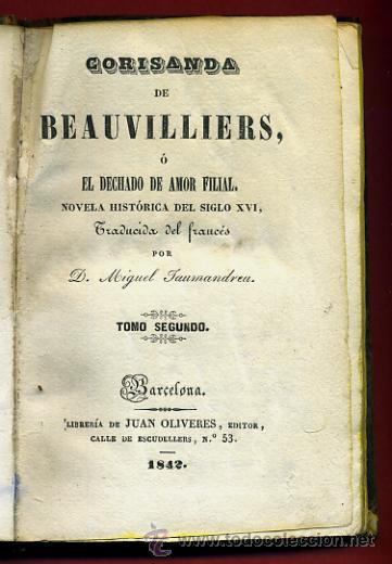 Libros antiguos: LIBRO CORISANDA DE BEAUVILLIERS 1892 , 2 TOMOS , GRABADOS , ORIGINAL - Foto 10 - 43402688