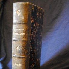 Libros antiguos: LE MONITEUR LITTERAIRE 12 NÚMEROS ENCUADERNADOS . Lote 43436957