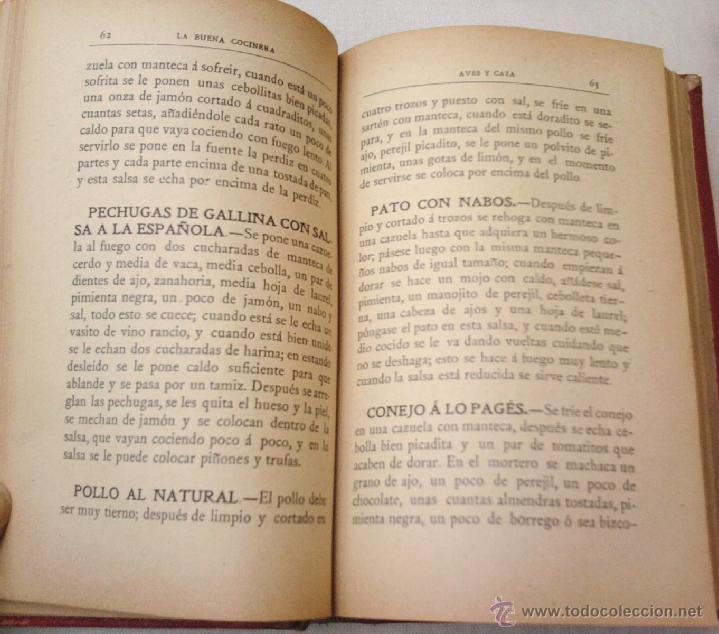 Libros antiguos: LIBRO DE COCINA-CARMENCITA O LA BUENA COCINERA-AÑO 1902, I SIGLO,COCINA ESPAÑOLA,FRANCESA,AMERICA - Foto 3 - 43485184