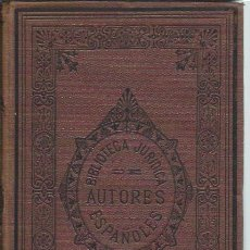 Libros antiguos: REGALÍAS DE LOS SEÑORES REYES DE ARAGÓN, MELCHOR DE MACANAZ, MADRID, REV.DE LEGISLACIÓN 1879. Lote 43499976