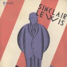 Libros antiguos: SINCLAIR LEWIS. BABBIT. 1ª ED. MADRID, 1930. PORTADA ARTÍSTICA. Lote 43434079