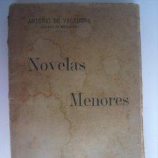 Libros antiguos: NOVELAS MENORES. VALBUENA, ANTONIO DE. Lote 43526167