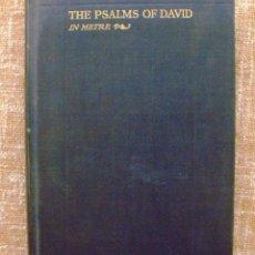 Libros antiguos: LIBRO THE PSALMS OF DAVID IN METRE, AÑO 1928, EDITORIAL WASHBURN & THOMAS, WILLIAM ALLAN NEILSON. Lote 43526457