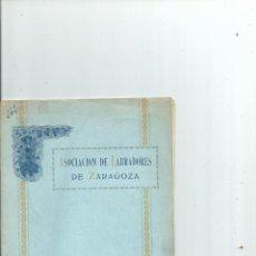 Libros antiguos: ASOCIACIÓN DE LABRADORES DE ZARAGOZA - MEMORIA 1920 - 1921. Lote 43565345