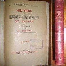 Libros antiguos: TORENO, CONDE DE. HISTORIA DEL LEVANTAMIENTO, GUERRA Y REVOLUCIÓN DE ESPAÑA. TOMO PRIMERO. Lote 43587027