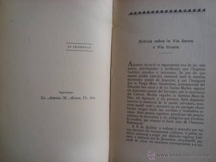 Libros antiguos: M. COSTA I LLOBERA: VIA CRUCIS. PALMA DE MALLORCA, 1907. PRIMERA EDICIÓ. - Foto 3 - 43594740