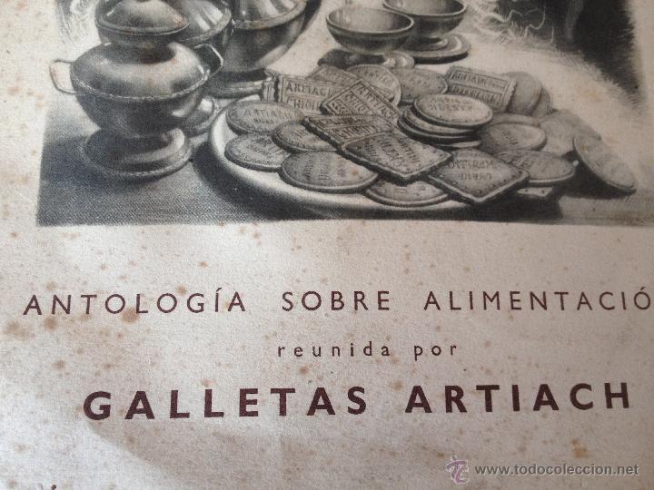 Libros antiguos: Antologia sobre alimentacion reunida por Galletas Artiach. Comunicación a los señores medicos. - Foto 2 - 43723026