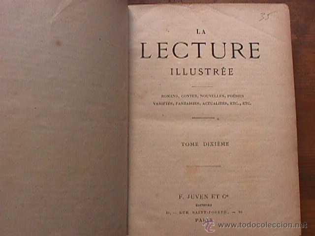 Libros antiguos: La Lecture illustree, tome dixieme, Juven et Cia. 188? - Foto 2 - 43801244