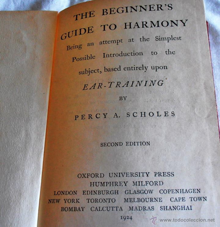 Libros antiguos: THE BEGINNER´S, GUIDE TO HARMONY - Foto 3 - 43848015