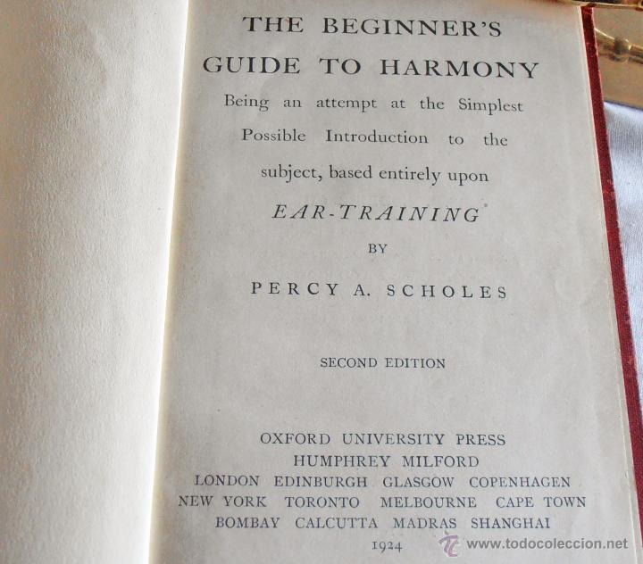 Libros antiguos: THE BEGINNER´S, GUIDE TO HARMONY - Foto 4 - 43848015