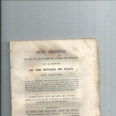 Libros antiguos: MINERÍA AMÉRICA MEDIOS MAS EFICACES PARA EL BENEFICIO DE LOS METALES DE PLATA POR AZOGUES. Lote 43711946