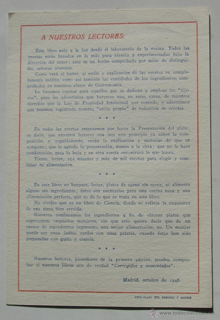 Libros antiguos: NUESTRA COCINA- J. SARRAÚ - Foto 6 - 43922457