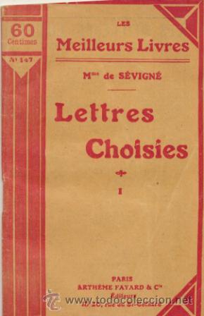 LETTRES CHOISIES I. MME DE SEVIGNÉ. (Libros Antiguos, Raros y Curiosos - Otros Idiomas)