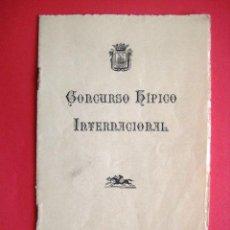 Libros antiguos: CONCURSO HIPICO INTERNACIONAL SAN SEBASTIAN 1927. ENVIO CERTIFICADO INCLUIDO.. Lote 43972389