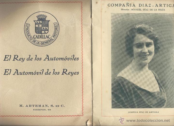 Libros antiguos: Programa del teatro San Fernando. Compañía Díaz-Artigas Año 1927 - Foto 2 - 43985846