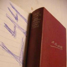Libros antiguos: ANTIGUO LIBRO OBRAS COMPLETAS - CUENTOS, TEATRO Y CENSO - BENITO PEREZ GALDOS - AGUILAR . Lote 43987969